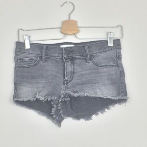 Abercrombie & Fitch Grey Distressed Jean Shorts